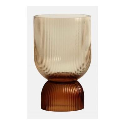 home - Riva Vase Candleholder L Brown - amber