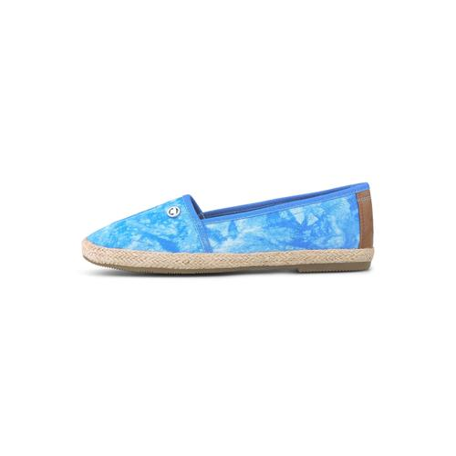 TOM TAILOR Damen Batik Stoffslipper, blau, Gr.37