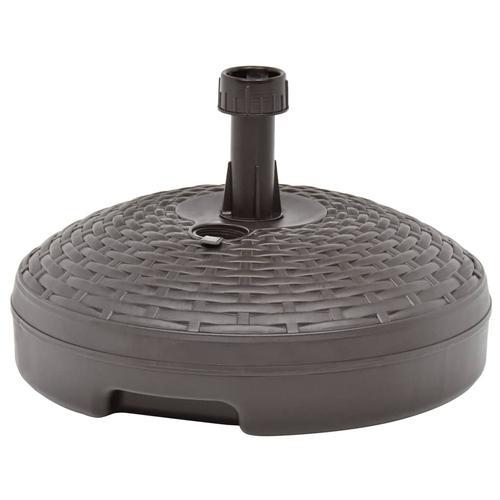vidaXL Sonnenschirmständer Sand/Wasser 20 L Braun Kunststoff