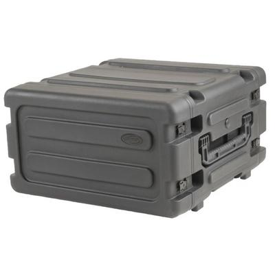 """SKB Cases Dry Boxes 20 Deep 4U Roto Shockmount Rolling Rack 19 Rackable x 20 Deep x 7 High"""