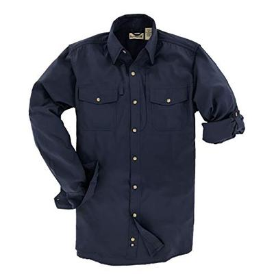 Backpacker Men's Expedition Travel Shirt Navy Size Small