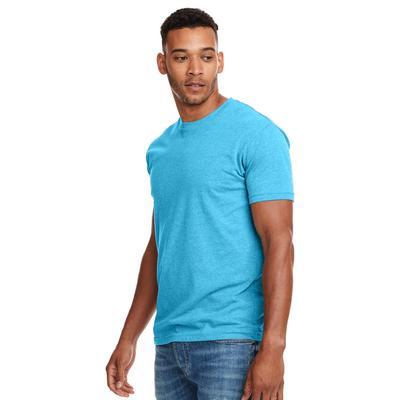 Next Level N6210 Men's CVC Crew T-Shirt in Bondi Blue size 3XL   Cotton/Polyester Blend