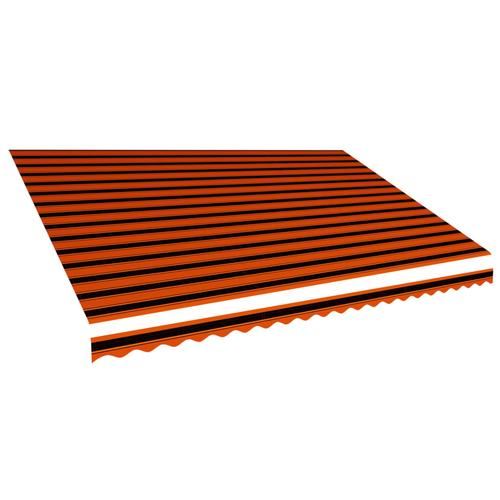 vidaXL Markisenbespannung Canvas Orange & Braun 500 x 300 cm