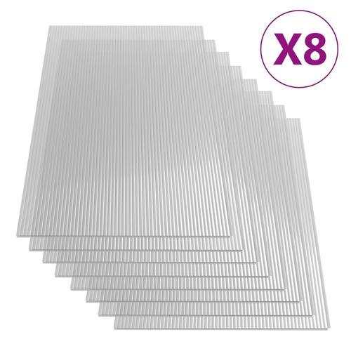 vidaXL Polycarbonatplatten 8 Stk. 4 mm 121 x 60 cm