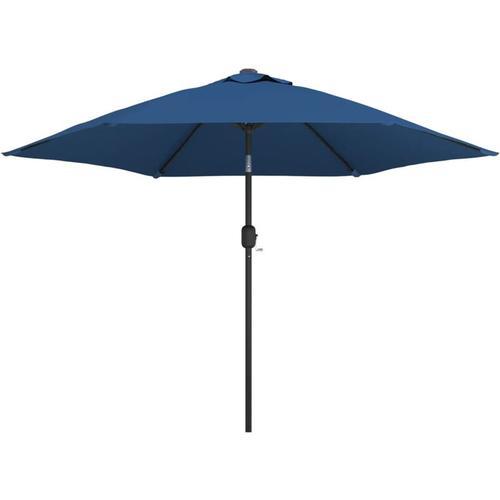 Vidaxl - Sonnenschirm mit Metall-Mast 300 cm Azurblau
