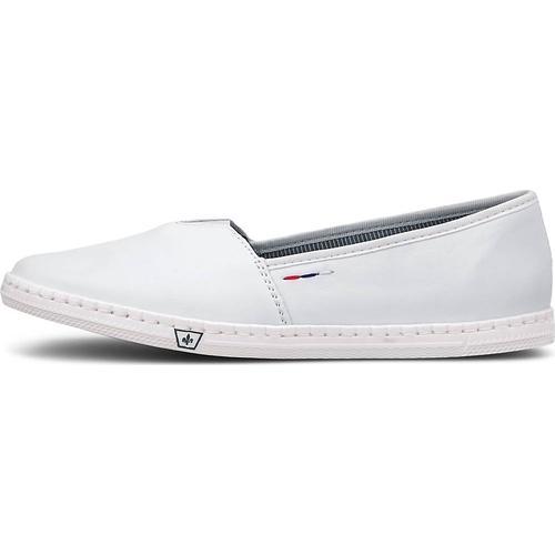 Rieker, Sommer-Slipper in weiß, Slipper für Damen Gr. 36