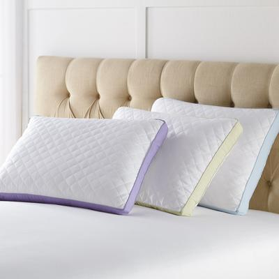 Side Sleeper Gusseted Density 2-Pack Pillows by BrylaneHome in White Light Blue (Size PSTAND)