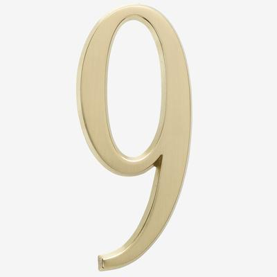 """4¾"""" Numbers by Whitehall Products in #9 Gold"""