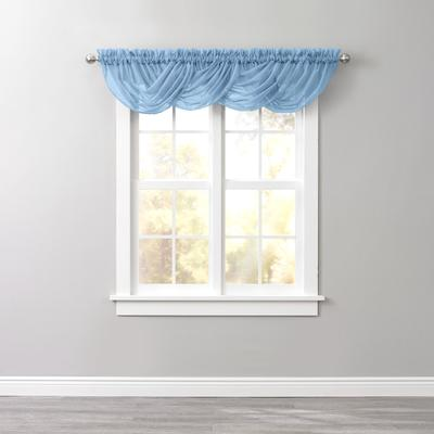 BH Studio Sheer Voile Toga Valance by BH Studio in Smoke Blue