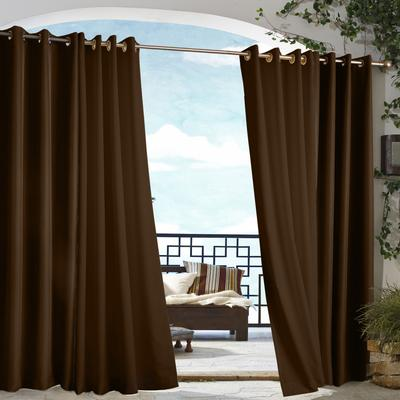 """Wide Width Gazebo Grommet Top Panel by Commonwealth Home Fashions in Chocolate (Size 50"""" W 84"""" L)"""