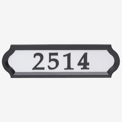 Nite Bright Richfield Home Address Sign by Whitehall Products in Black