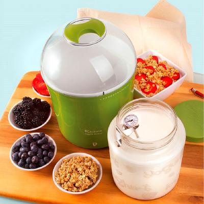 Euro Cuisine Yogurt & Greek Yogurt Maker with Glass Jar by Euro Cuisine in Green