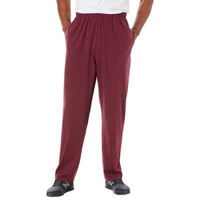 Men's Big & Tall Lightweight Jersey Sweatpants by KingSize in Heather Deep Burgundy (Size XL)