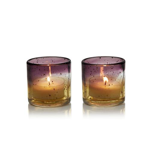 Windlicht-Set, 2-tlg. GIFTCOMPANY orange/lila