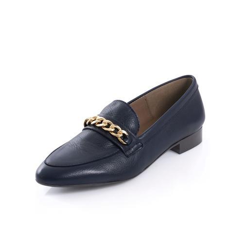 Alba Moda, Slipper mit dekorativer Kette, blau