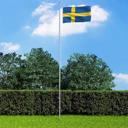 vidaXL Flagge Schwedens 90 x 150 cm
