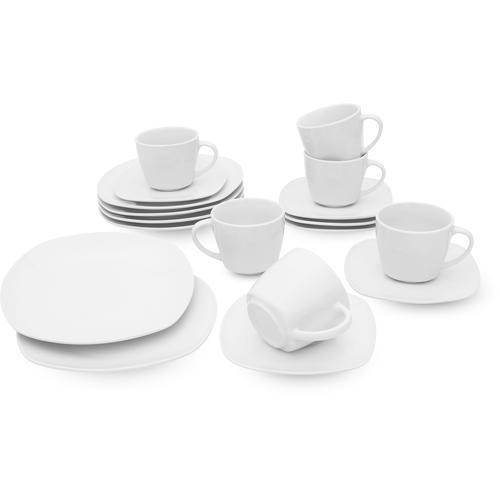 Retsch Arzberg Kaffeeservice Fino, (Set, 18 tlg.) weiß Geschirr-Sets Geschirr, Porzellan Tischaccessoires Haushaltswaren