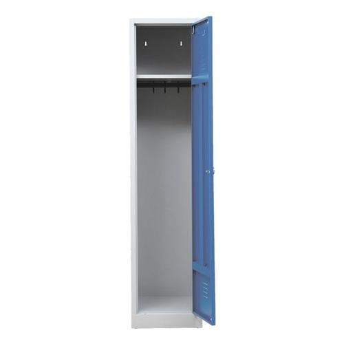 Garderobenschrank 40 x 180 cm Vorhängeschloss grau, Gürkan, 40x180x50 cm