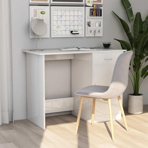 vidaXL Schreibtisch Hochglanz-Weiß 100×50×76 cm Spanplatte