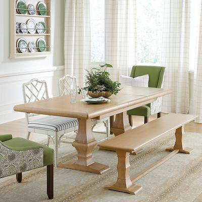 Chianni Trestle Extension Dining Table & One Bench - Ballard Designs