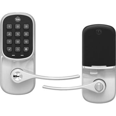 Yale Real Living Lever Keypad Entry Lock with August Assured Satin Nickel