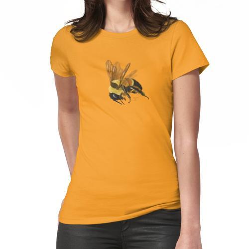 Rostig geflickte Bumblebee Frauen T-Shirt