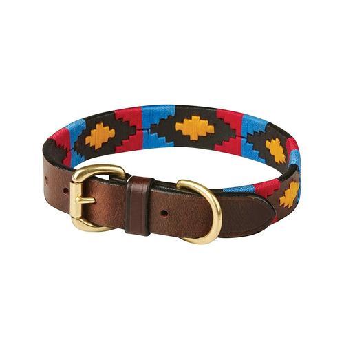 WeatherBeeta Hunde-Halsband Polo Leder-Hundehalsband, Textil, (1 St.) bunt Hundehalsbänder Hund Tierbedarf