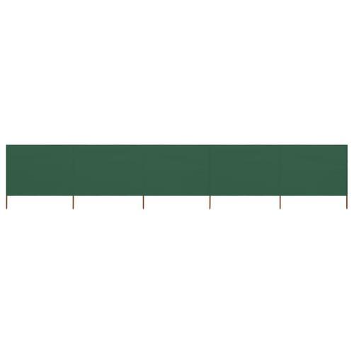 vidaXL 5-teiliges Windschutzgewebe 600 x 120 cm Grün