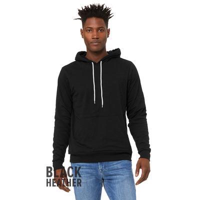 Bella + Canvas 3719 Sponge Fleece Pullover Hooded Sweatshirt in Black Heather size Small