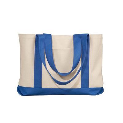 Liberty Bags 8869 Leeward Canvas Tote Bag in Natural/Royal | Cotton