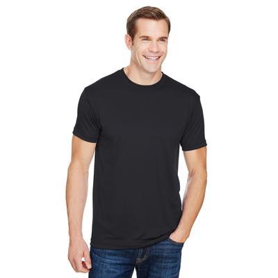 Bayside BA5300 4.5 oz. Polyester Performance T-Shirt in Black size XL