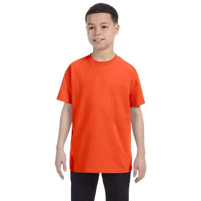 Jerzees 29B Youth 5.6 oz. DRI-POWER ACTIVE T-Shirt in Burnt Orange size Small | Cotton Polyester 29BR