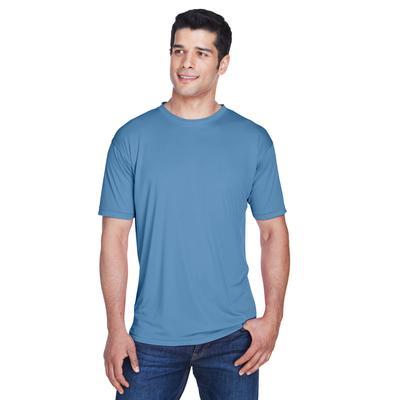 UltraClub 8420 Athletic Men's Cool & Dry Sport Performance Interlock T-Shirt in Indigo size Medium   Polyester