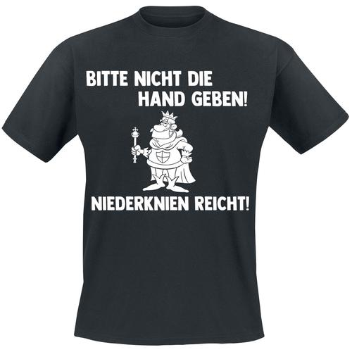 Bitte nicht die Hand geben - Niederknien reicht! Herren-T-Shirt - schwarz