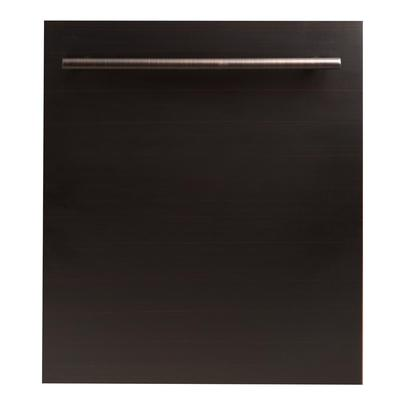 ZLINE Kitchen and Bath 24 in. Top Control Dishwasher in Oil-Rubbed Bronze with Stainless Steel Tub a