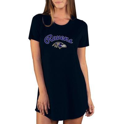 Baltimore Ravens Concepts Sport Women's Marathon Knit Nightshirt - Black
