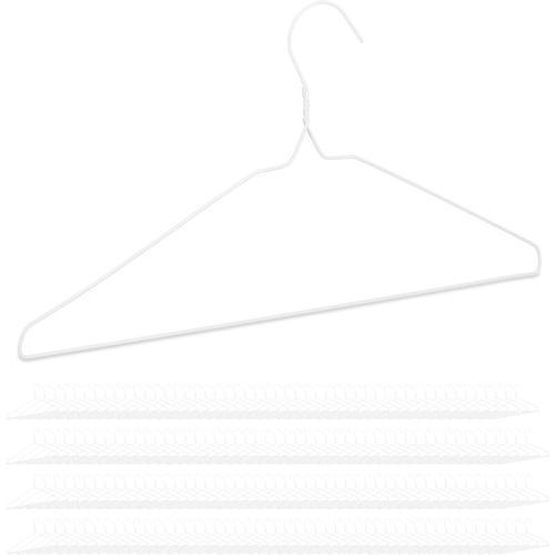 Relaxdays - 200 x Drahtbügel, für leichte Kleidung, platzsparende Draht Kleiderbügel, Steg für