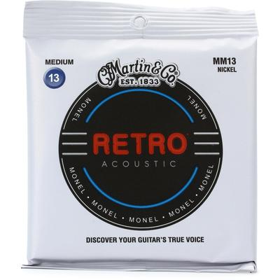 Martin Retro Acoustic Guitar Strings - .013-.056 Medium