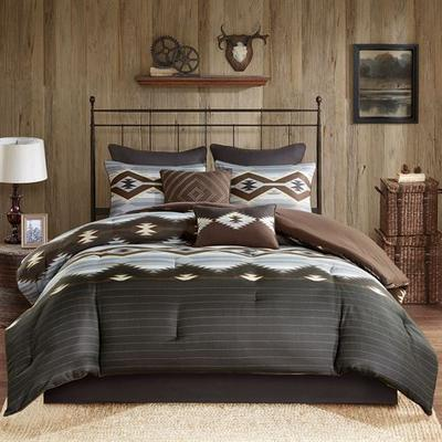 Bitter Creek Comforter Bed Set Multi Warm, California King, Multi Warm