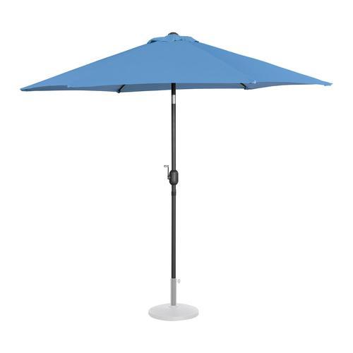 Uniprodo Sonnenschirm groß - blau - sechseckig - Ø 270 cm - neigbar