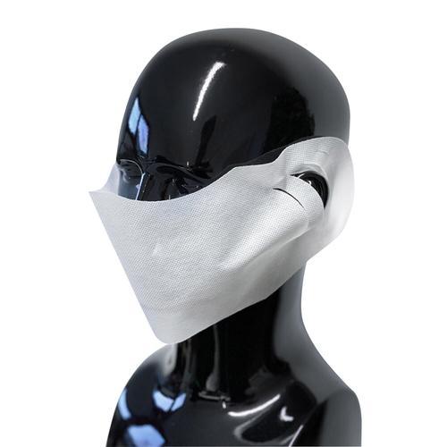 100x Hygienische Mundmaske Mundschutz und Nasenschutz Vlies weiß