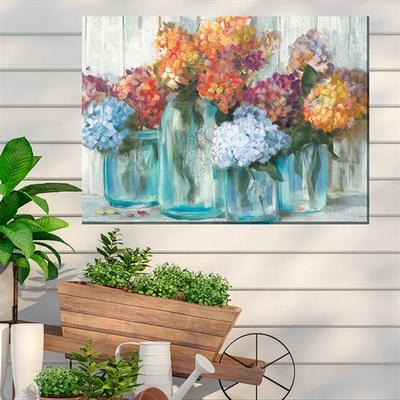 Mason Jars Canvas Wall Art Multi Cool , Multi Cool