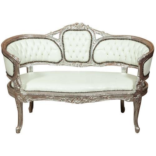 Französisches Sofa im Louis XVI-Stil aus massivem Buchenholz