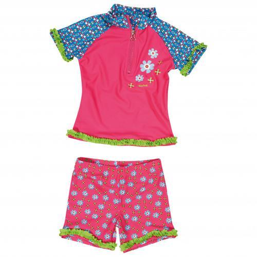 Playshoes - Kid's UV-Schutz Bade-Set Blumen - Lycra Gr 110/116 rosa