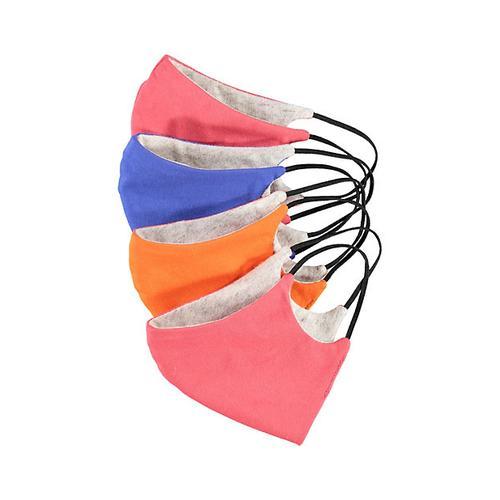 Deerberg Damen mit Nasenbügel 4er Pack Nase-Mund-Maske bunt