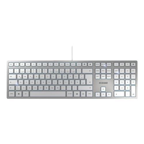 Kabelgebundene Tastatur »KC 6000 Slim« silberfarben silber, Cherry