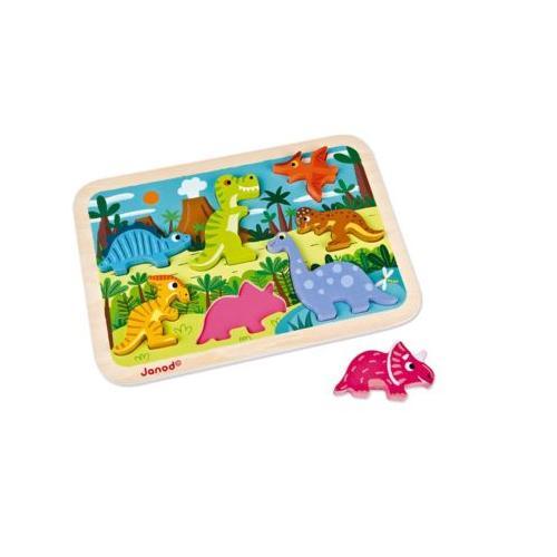 Chunky Puzzle Dinosaurier 7 Teile (Holz)