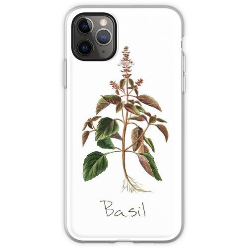 Basilikum-Kräuter-, Basilikum-Print, Basilikum, Basilikum Kuns Flexible Hülle für iPhone 11 Pro Max