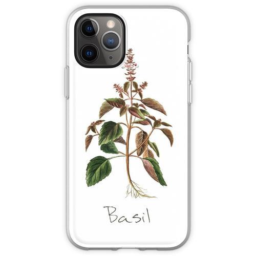 Basilikum-Kräuter-, Basilikum-Print, Basilikum, Basilikum Kunstdru Flexible Hülle für iPhone 11 Pro