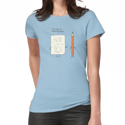Empfindliches Papier Frauen T-Shirt